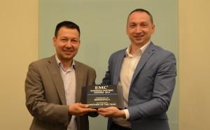 pic: Vihren Slavchev, Mnemonica CEO, and Teodor Radev, EMC Account Manager