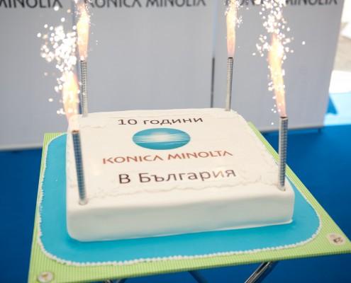 Konica Minolta Birthday cake