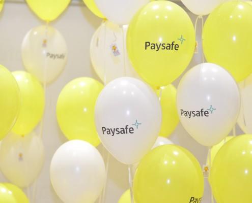 Paysafe branded baloons
